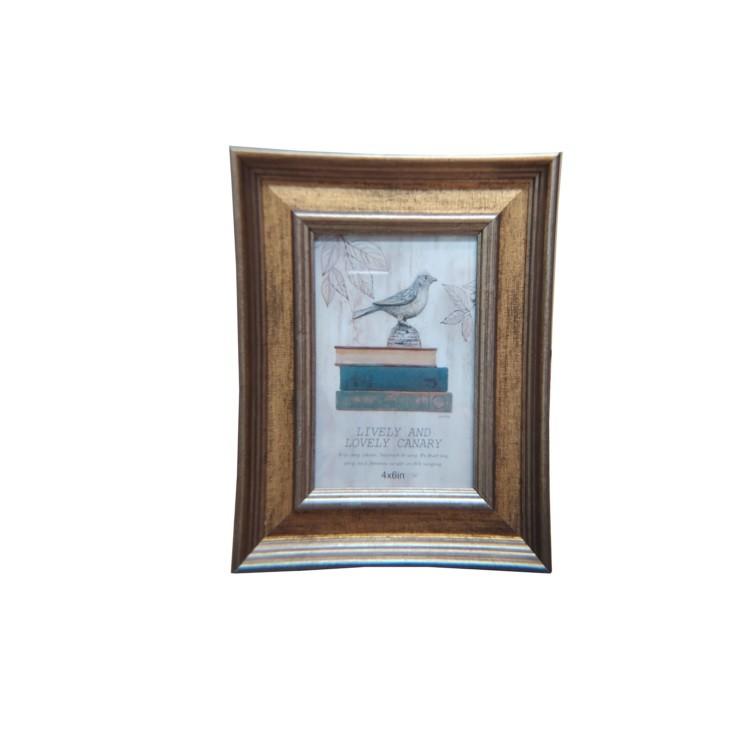 Porta Retrato Unifoto 10x15 cm Cobre com Dourado PR054 - Casambiente