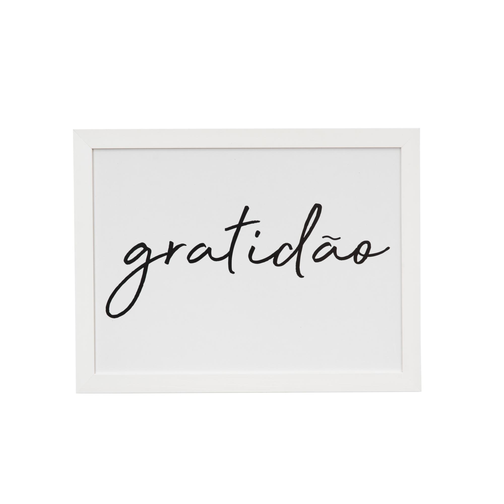 Quadro Decorativo 50x35cm Gratidao - Art Frame