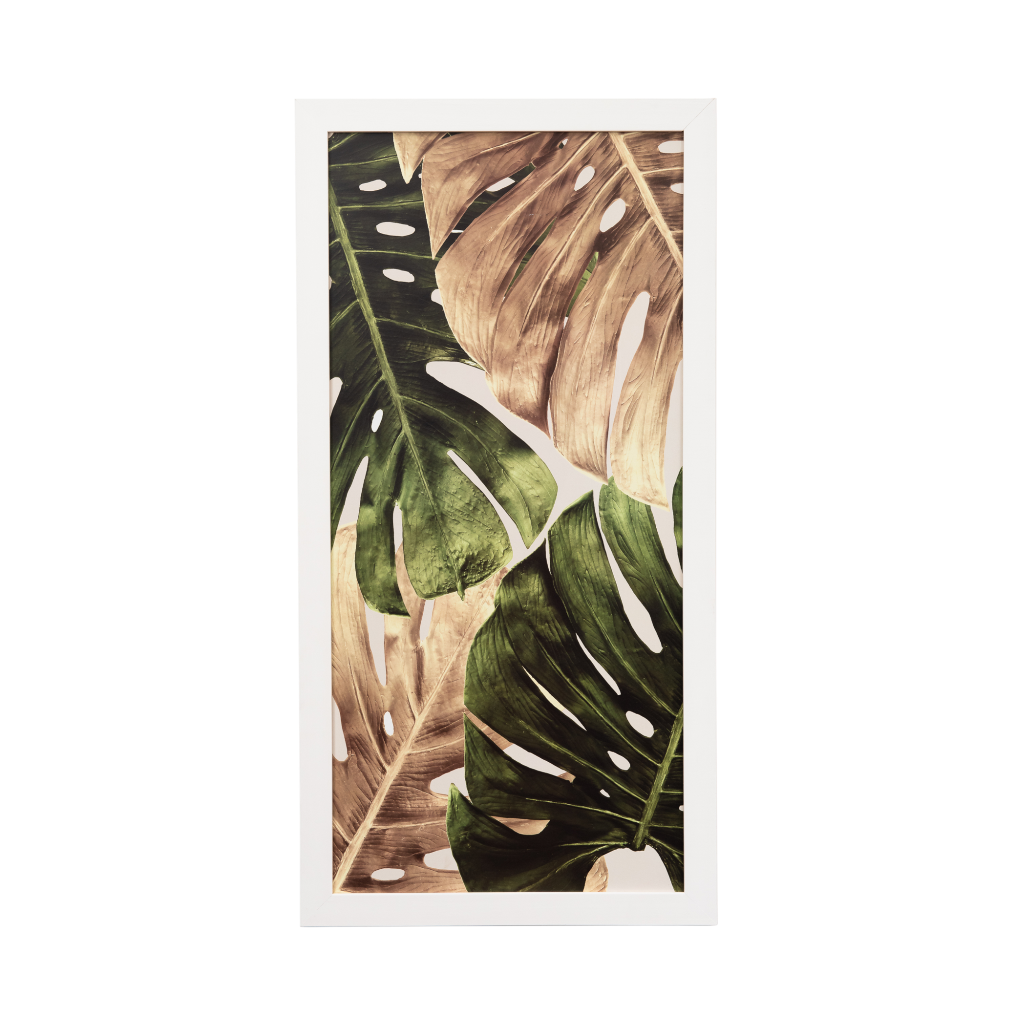 Quadro Decorativo 33x70cm Folhagem Verde - Art Frame