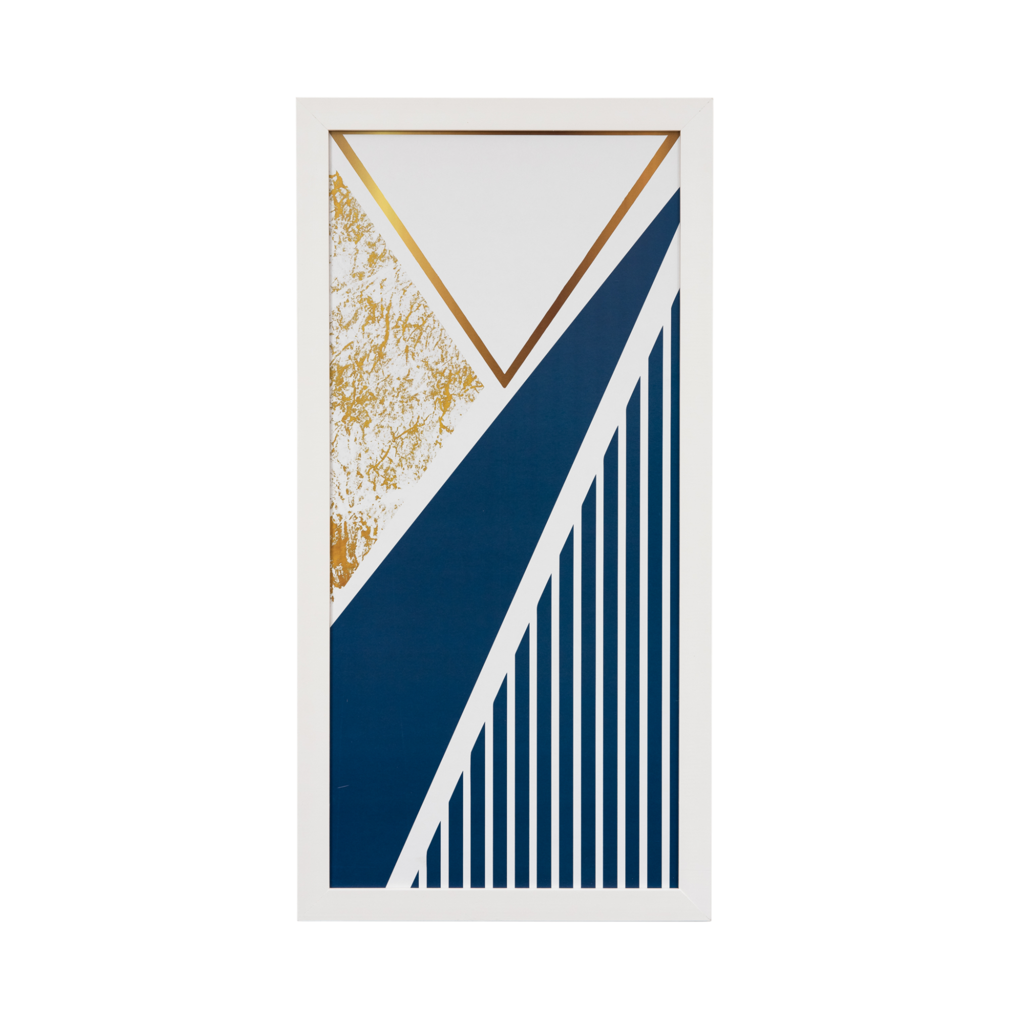 Quadro Decorativo 33x70cm Geometrico Azul - Art Frame