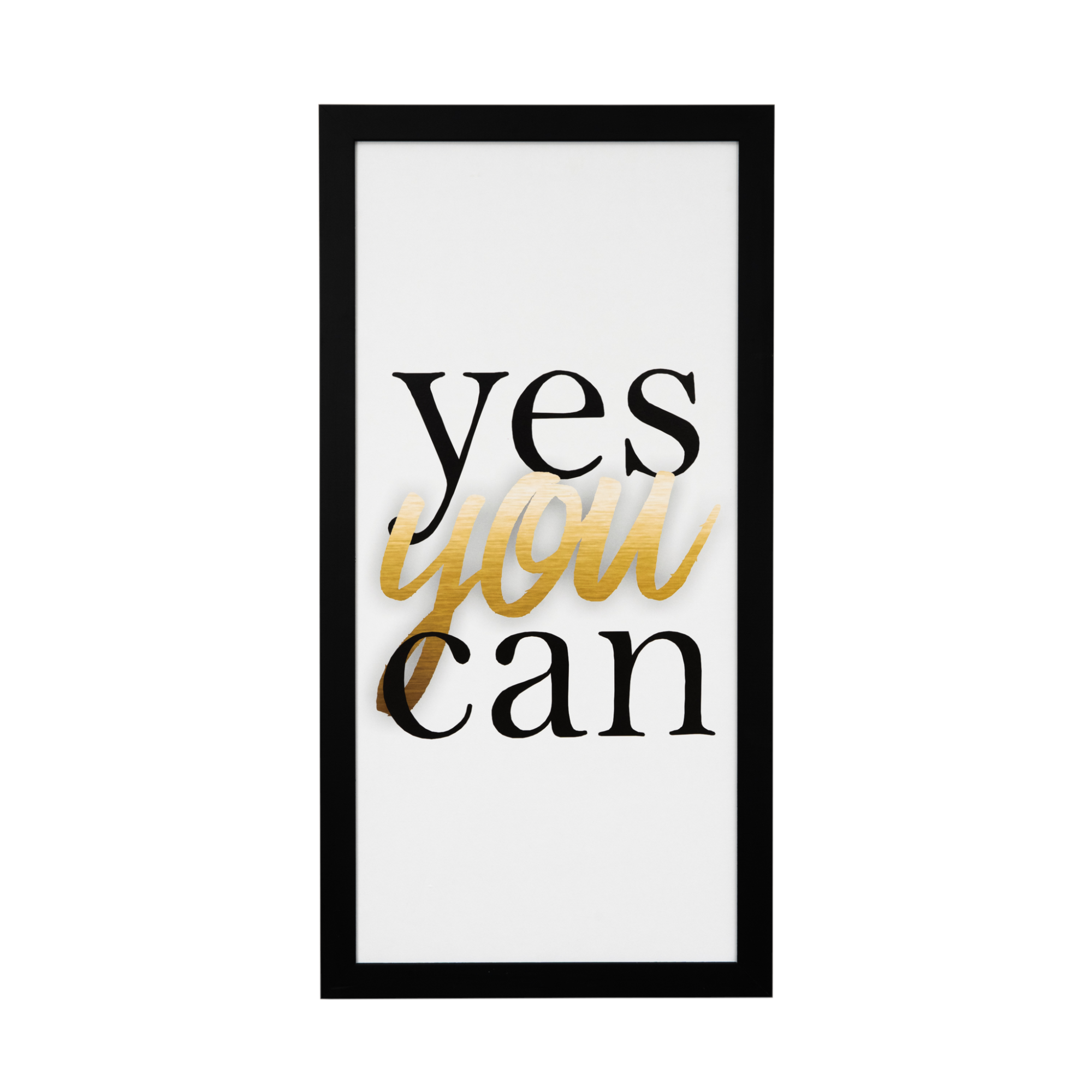 Quadro Decorativo 33x70cm Yes You Can - Art Frame