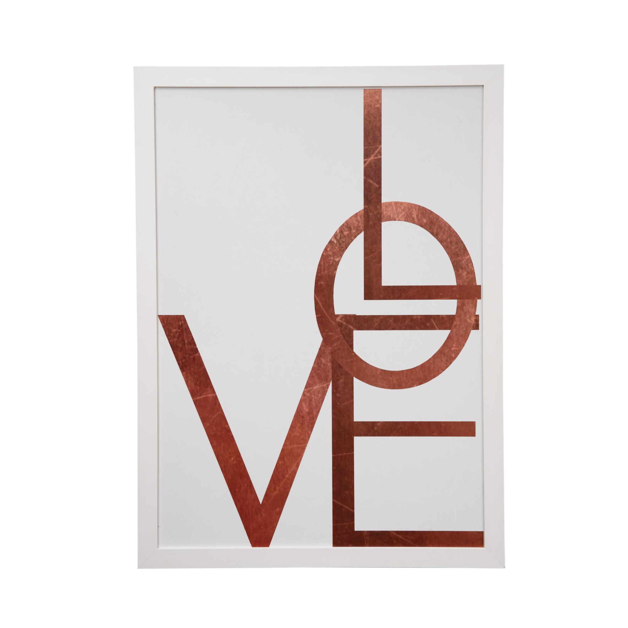 Quadro Decorativo 50x70cm Love Rose - Art Frame