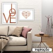 Quadro Decorativo 50x70cm Love Rosê - Art Frame