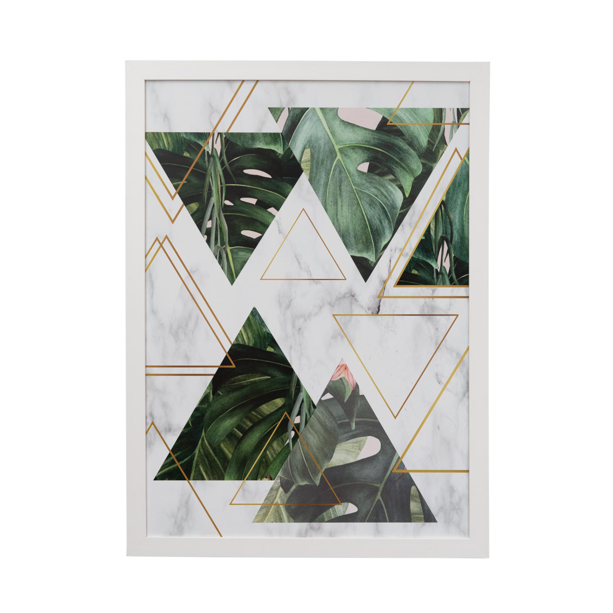 Quadro Decorativo 50x70cm Geometrico Verde - Art Frame