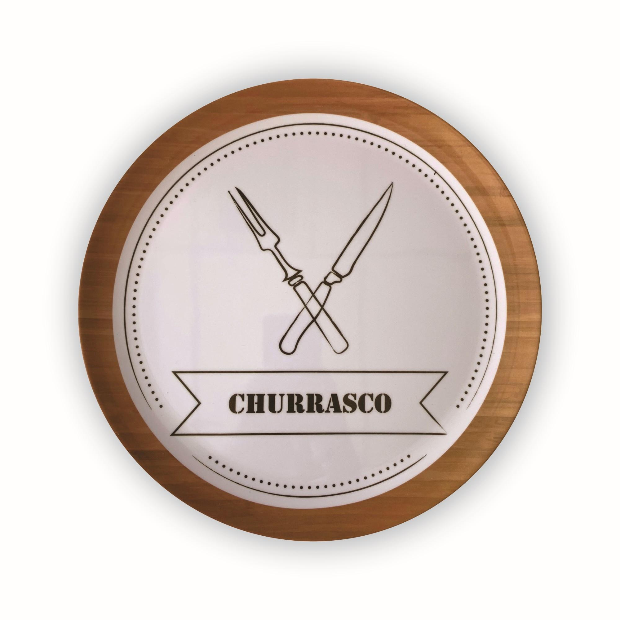 Prato Melanina Raso 27cm Churrasco - Bianchini