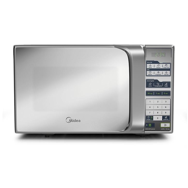 Micro-ondas Midea MTFS22 20L Espelhado 220V com Painel Touch e Timer Prata