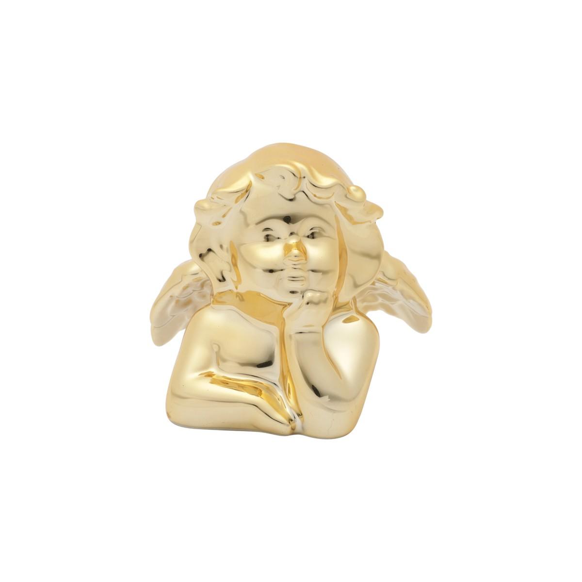 Enfeite Anjo 10cm de Ceramica Ouro 42804 - Urban