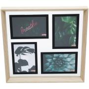 Porta Retrato Multifotos Madeira Transparente 43980 - Urban