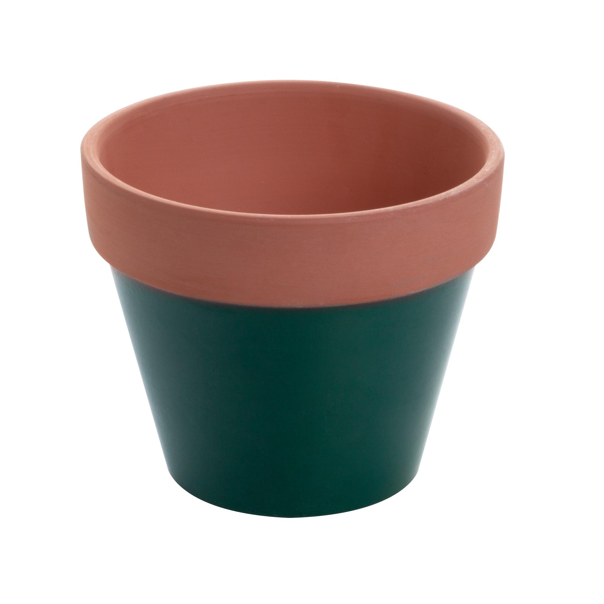 Vaso de Ceramica Terracota Colar Verde 7 cm - Urban