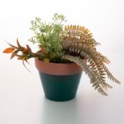 Vaso de Cerâmica Terracota Colar Verde 7 cm - Urban