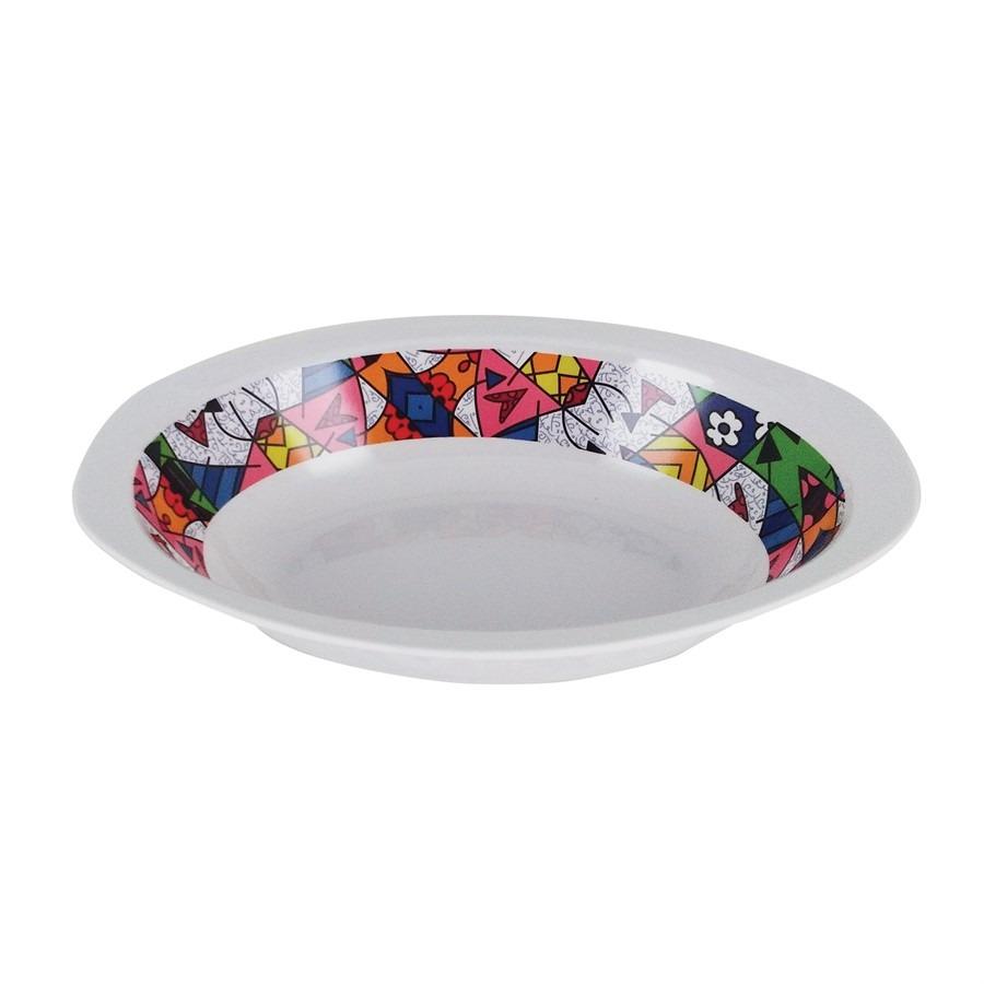 Saladeira de Melamina Romero Britto 30cm - Yangzi