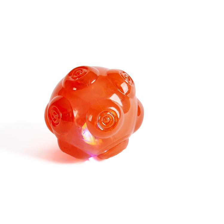 Brinquedo Pet Mordedor Bola com Luz - Plasvale