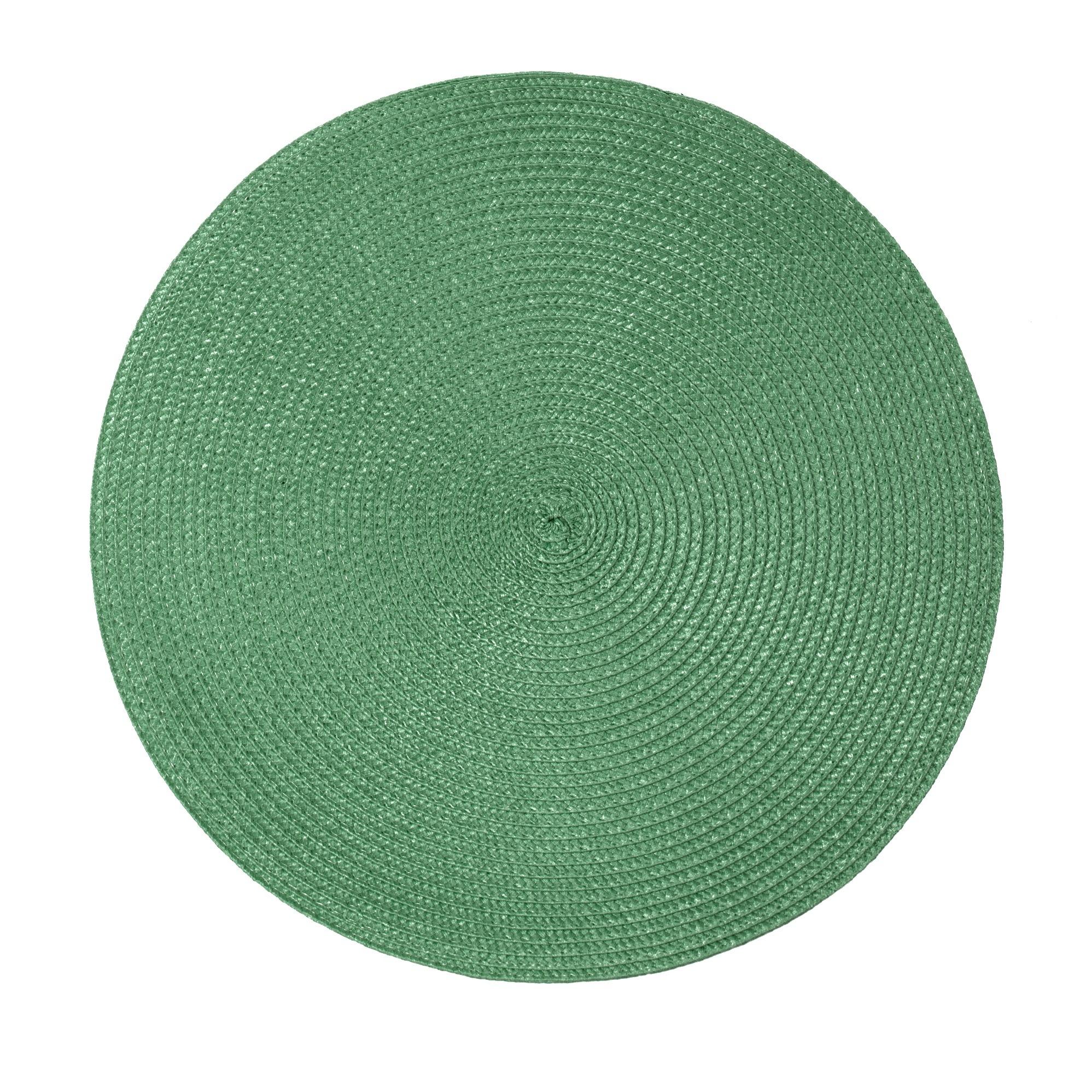 Pano Americano Redondo Verde 38 cm 1 Peca Fio de Poliester - Bianchini