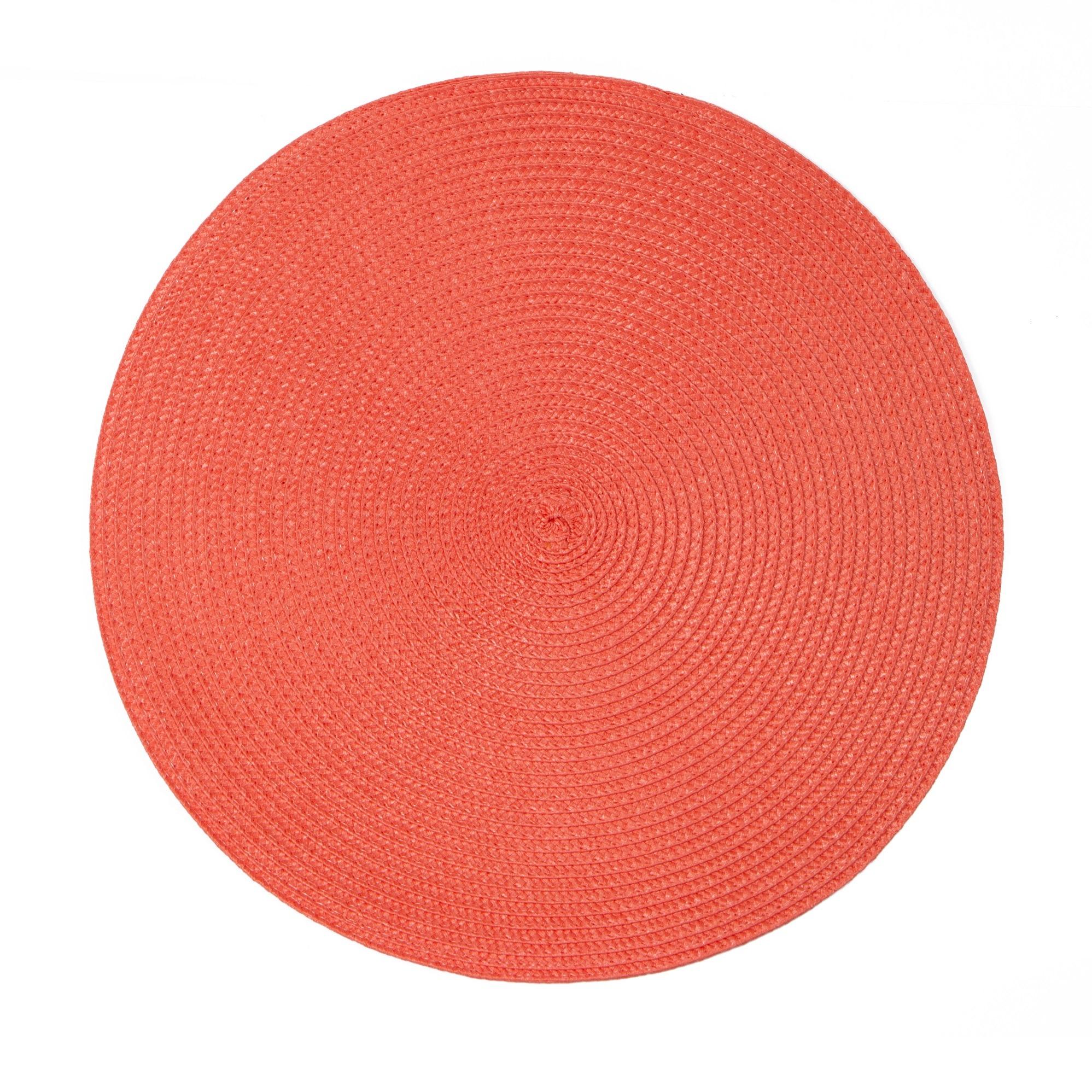 Pano Americano Redondo Coral 38 cm 1 Peca Fio de Poliester - Bianchini