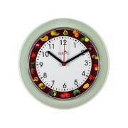 Relógio de Parede Frutas 24cm Cinza - Relobraz