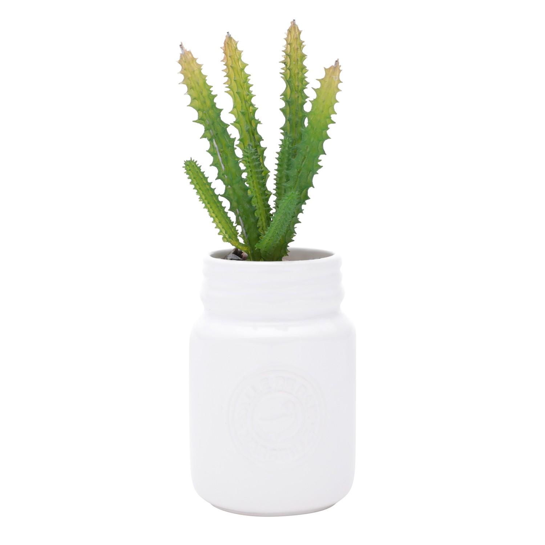 Vaso Decorativo Ceramica 21cm Branco - Urban