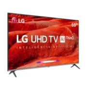 "Smart TV LED 65"" LG 4K/Ultra HD ThinQ AI HDR Ativo - 4 HDMI 2 USB - 65UM7520"