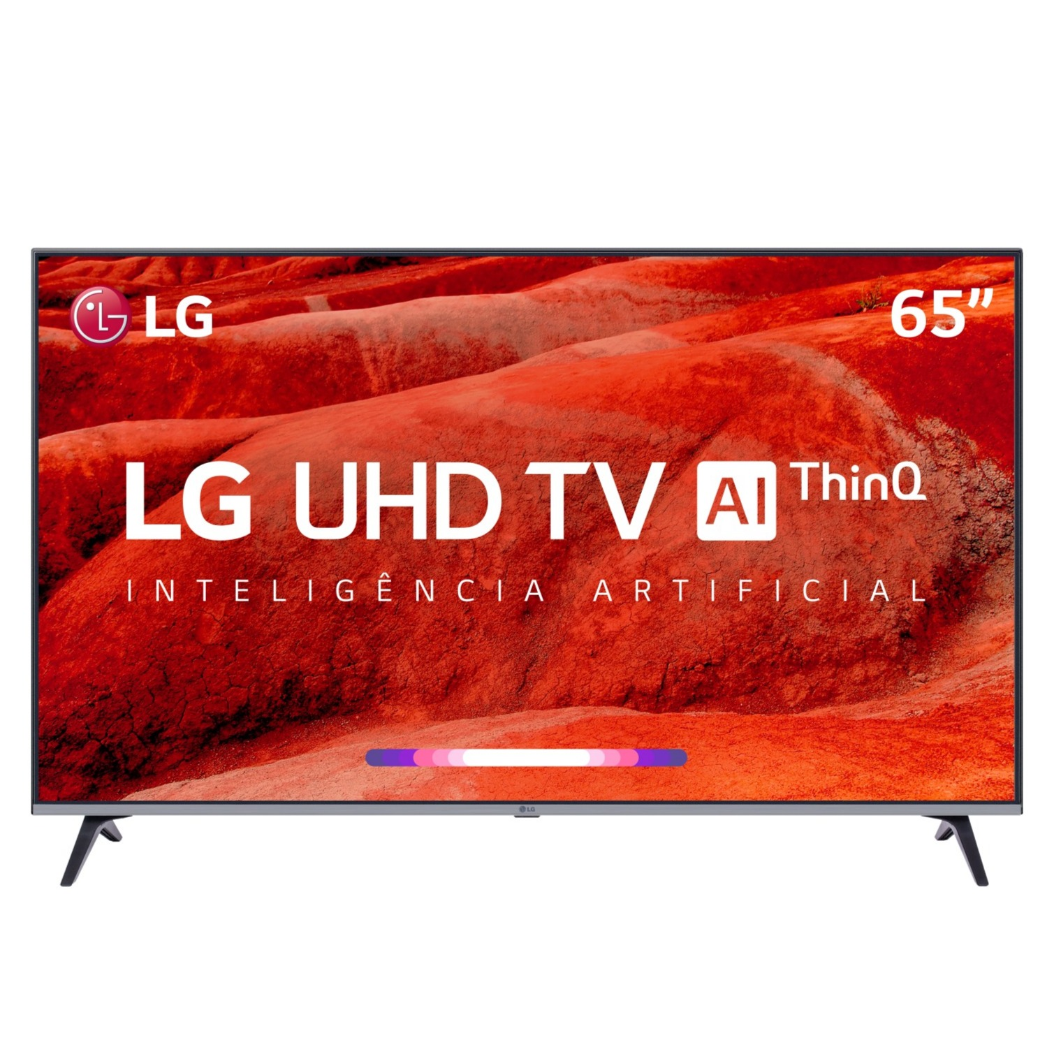 Smart TV LED 65 LG 4KUltra HD ThinQ AI HDR Ativo - 4 HDMI 2 USB - 65UM7520