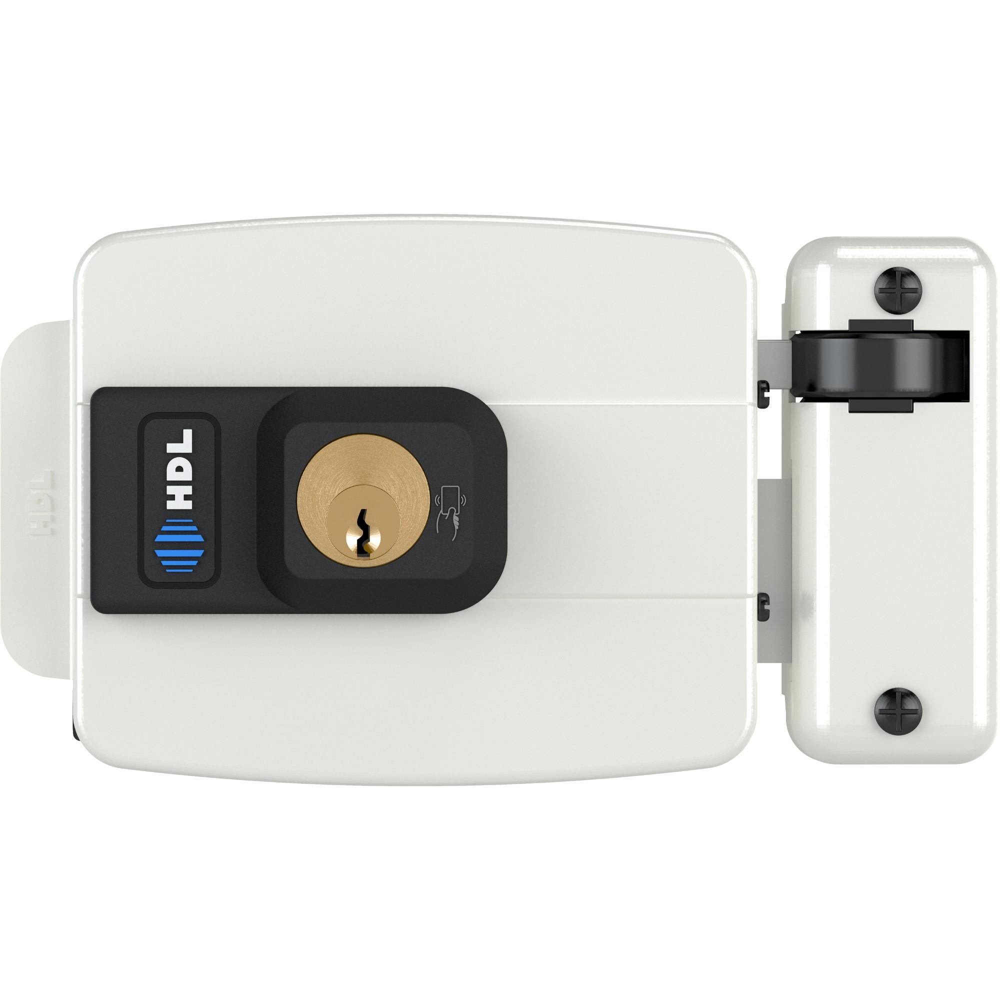 Fechadura Eletrica 12V Abertura para Dentro Branca - 900103053 - HDL