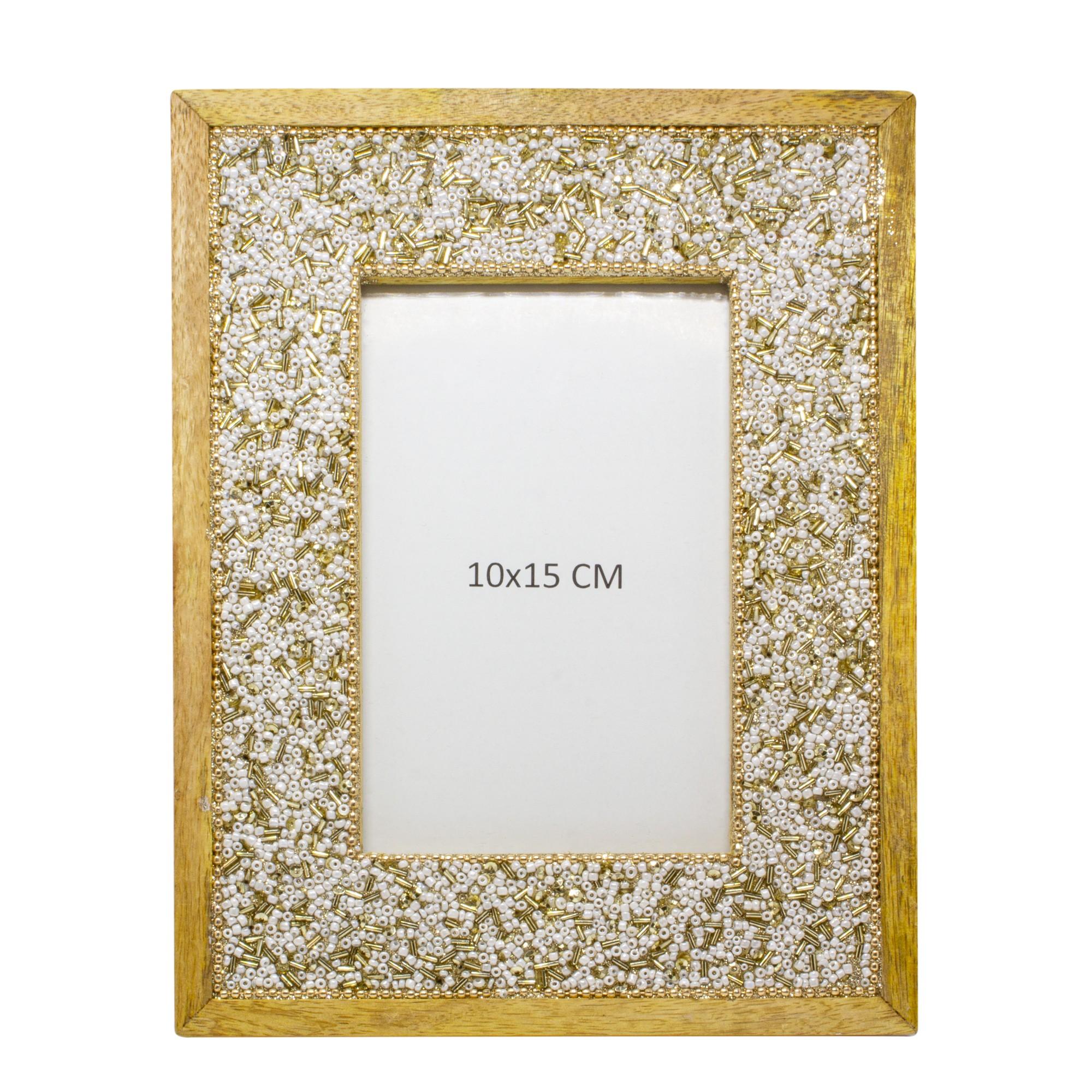 Porta-Retrato Unifoto 10x15cm de Madeira Dourado - Jolie