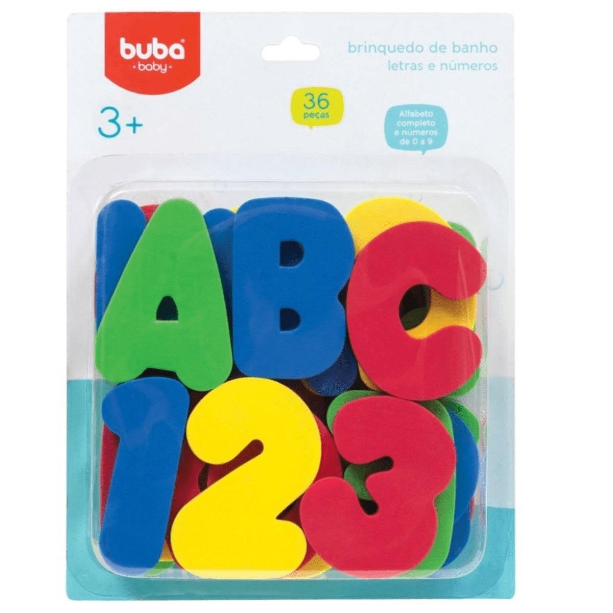 Brinquedo de Banho Letras e Numeros 36 pecas - Buba