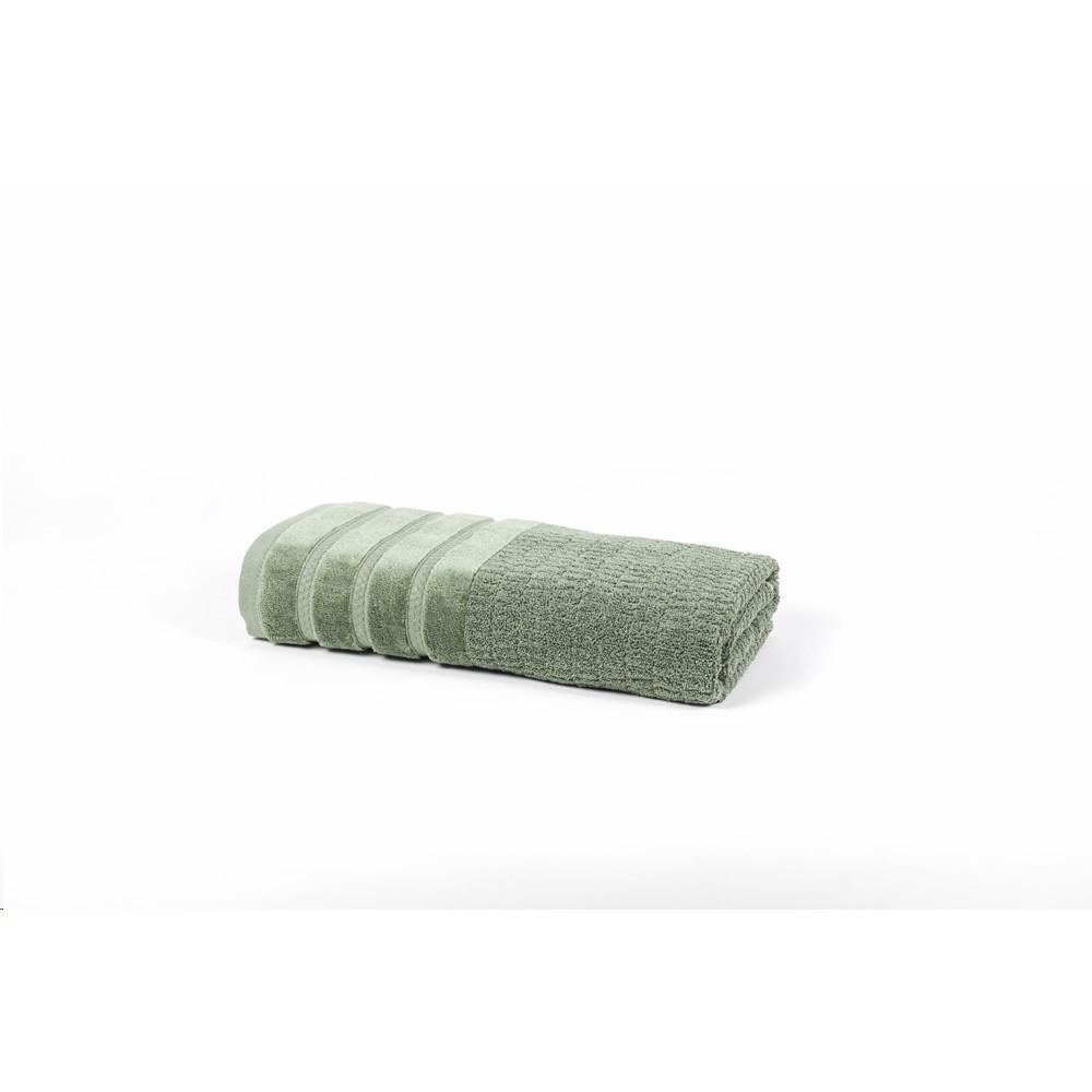 Toalha De Banho Fio Penteado Mineral Verde 70x140 cm 100 Algodao - Santista
