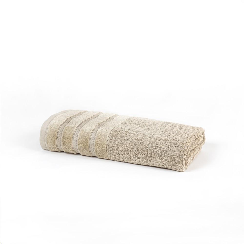 Toalha de Banho Fio Penteado Mineral Bege 70x140 cm 100 Algodao - Santista