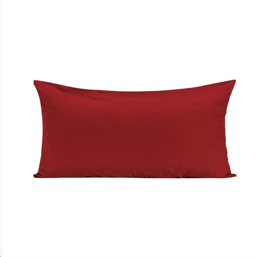 Fronha Avulsa Percal 50x90 cm 100 Algodao Vermelho - Juma