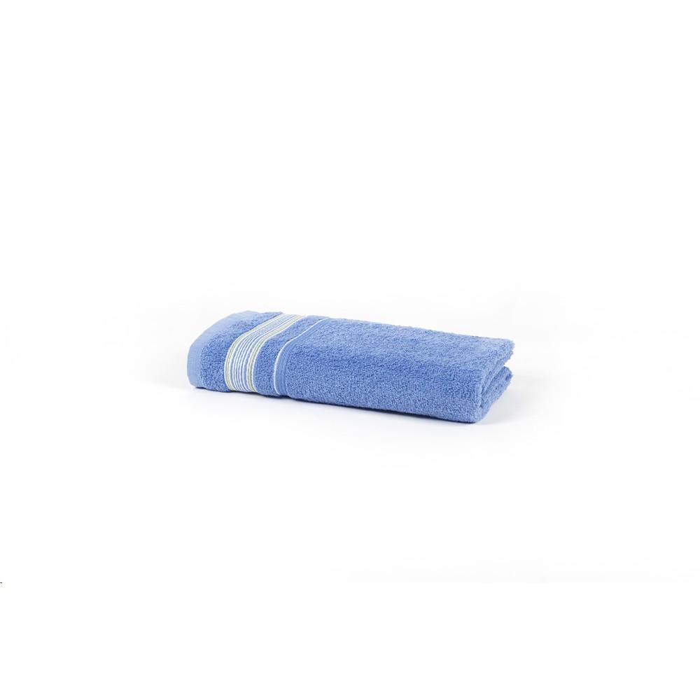 Toalha de Rosto Billy 100 Algodao Azul 41x70 cm Felpuda - Santista