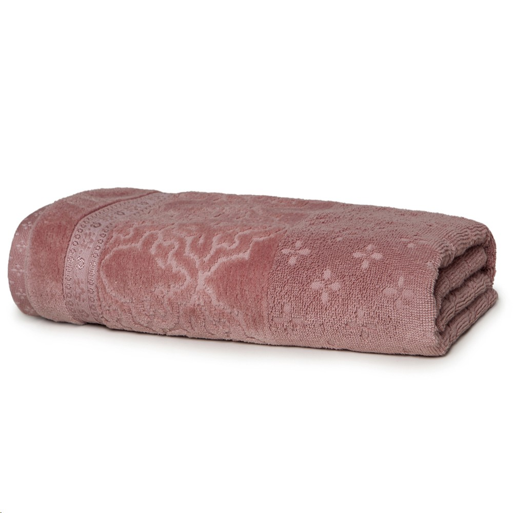 Toalha de Rosto Le Bain Iron Rosa Escuro 100 Algodao 50x80 cm - Artex
