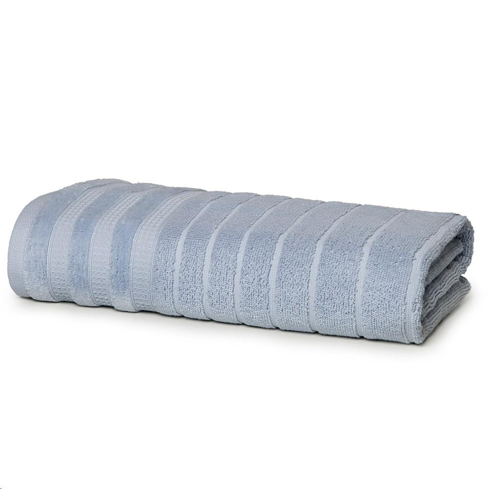 Toalha de Rosto Artex 100 Algodao 48x80cm Jacquard Fio Penteado Masp Azul Claro