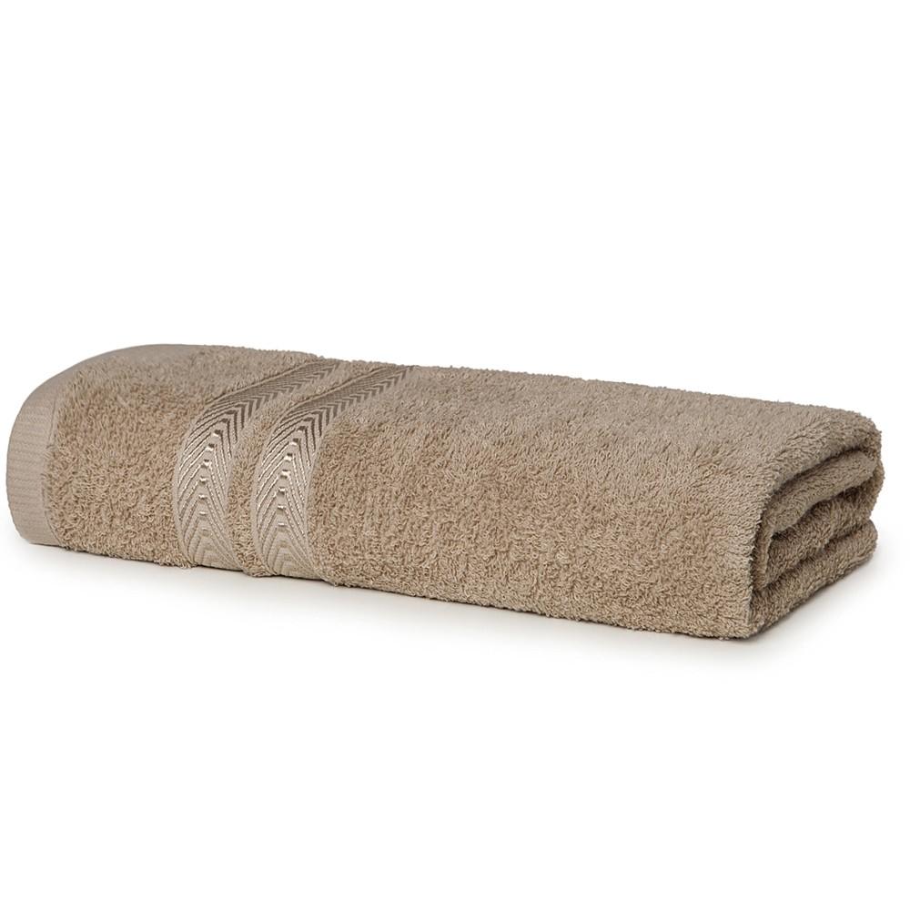 Toalha de Banho Artex 100 Algodao Barra com Viscose 70x135cm Trigo