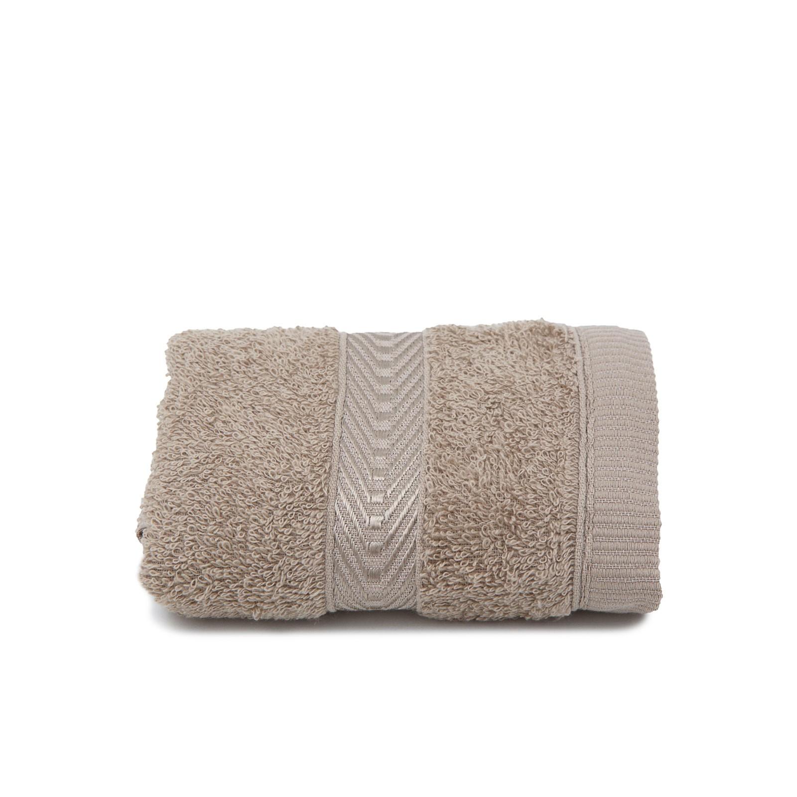 Toalha de Rosto Artex 100 Algodao Barra com Viscose 41x70 cm Trigo