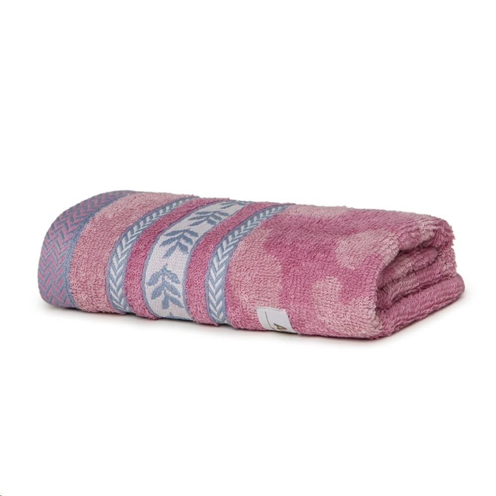 Toalha de Banho Infantil Artex Fio Penteado 100 Algodao Jacquard 70x135cm Rosa
