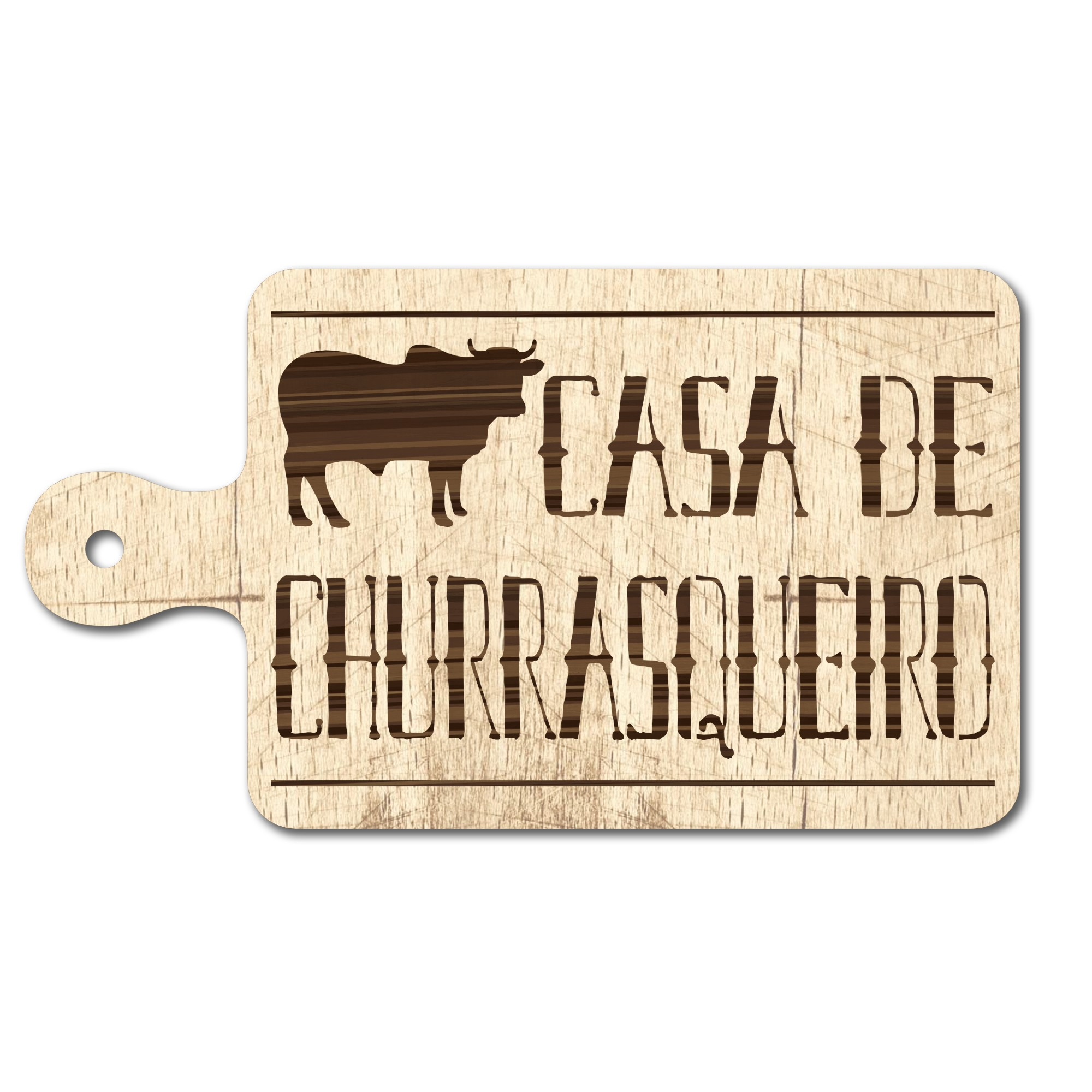 Placa Decorativa Madeira 33x18cm Casa do Churrasqueiro - Cia Laser