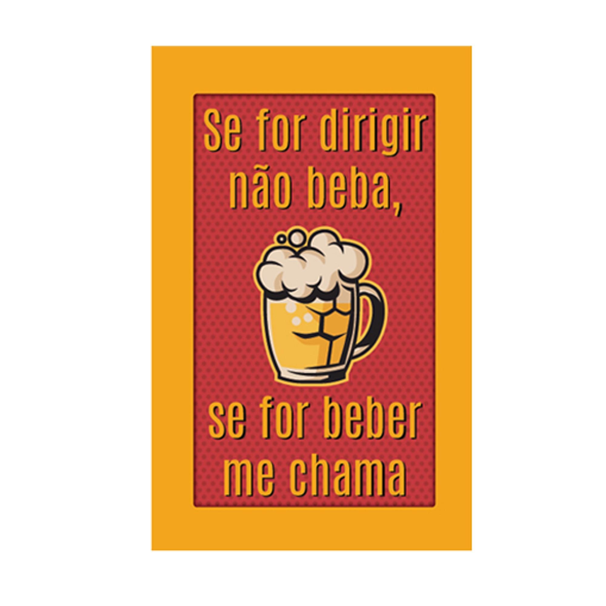 Placa Decorativa Madeira 33x18cm Frase 067 - Cia Laser