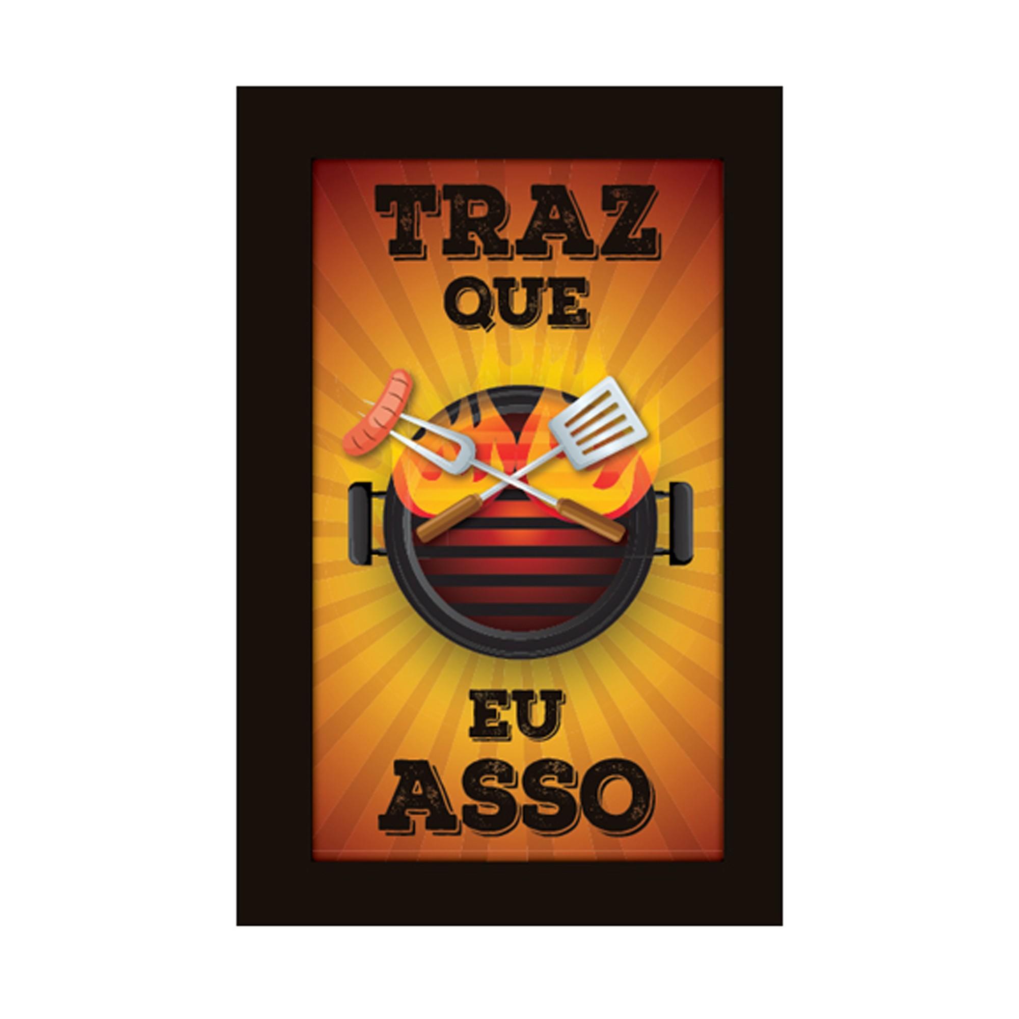 Placa Decorativa Madeira com Moldura 29x19cm Frase 068 - Cia Laser