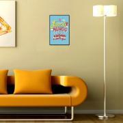 Placa Decorativa 29x19cm Frase 066 - Cia Laser