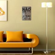 Placa Decorativa 29x19cm Frase 065 - Cia Laser