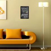 Placa Decorativa Madeira 29x19cm Frase 060 - Cia Laser