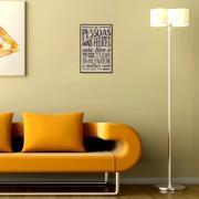Placa Decorativa 29x19cm Frase 059 - Cia Laser