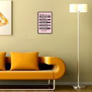 Placa Decorativa 29x19cm Regras da Casa - Cia Laser