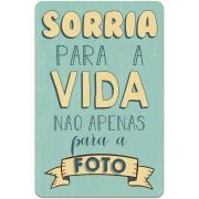 Placa Decorativa Madeira 29x19cm Frase 050 - Cia Laser