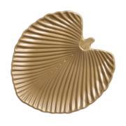 Centro de Mesa Leaves de Cerâmica Dourado 33cm 6280 - Ana Maria