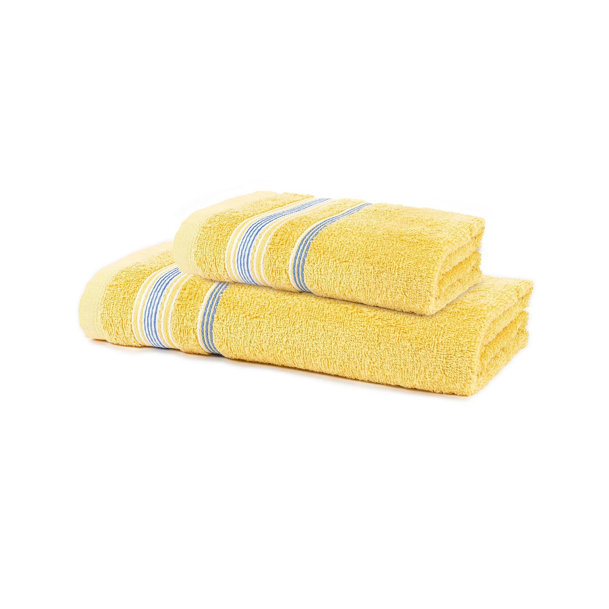 Jogo de Toalhas Santista 2 Pecas 100 Algodao Felpuda Royal Billy - Amarelo