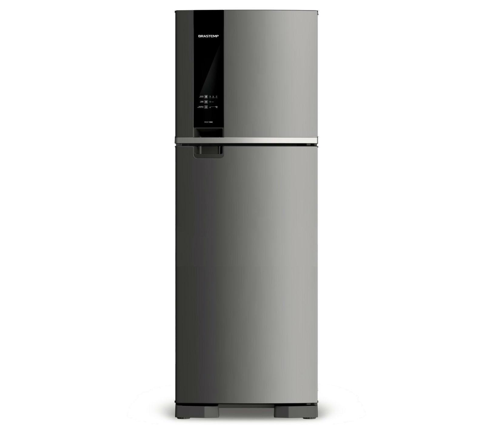 GeladeiraRefrigerador Brastemp Frost Free Duplex 375L Inox 127V - BRM45