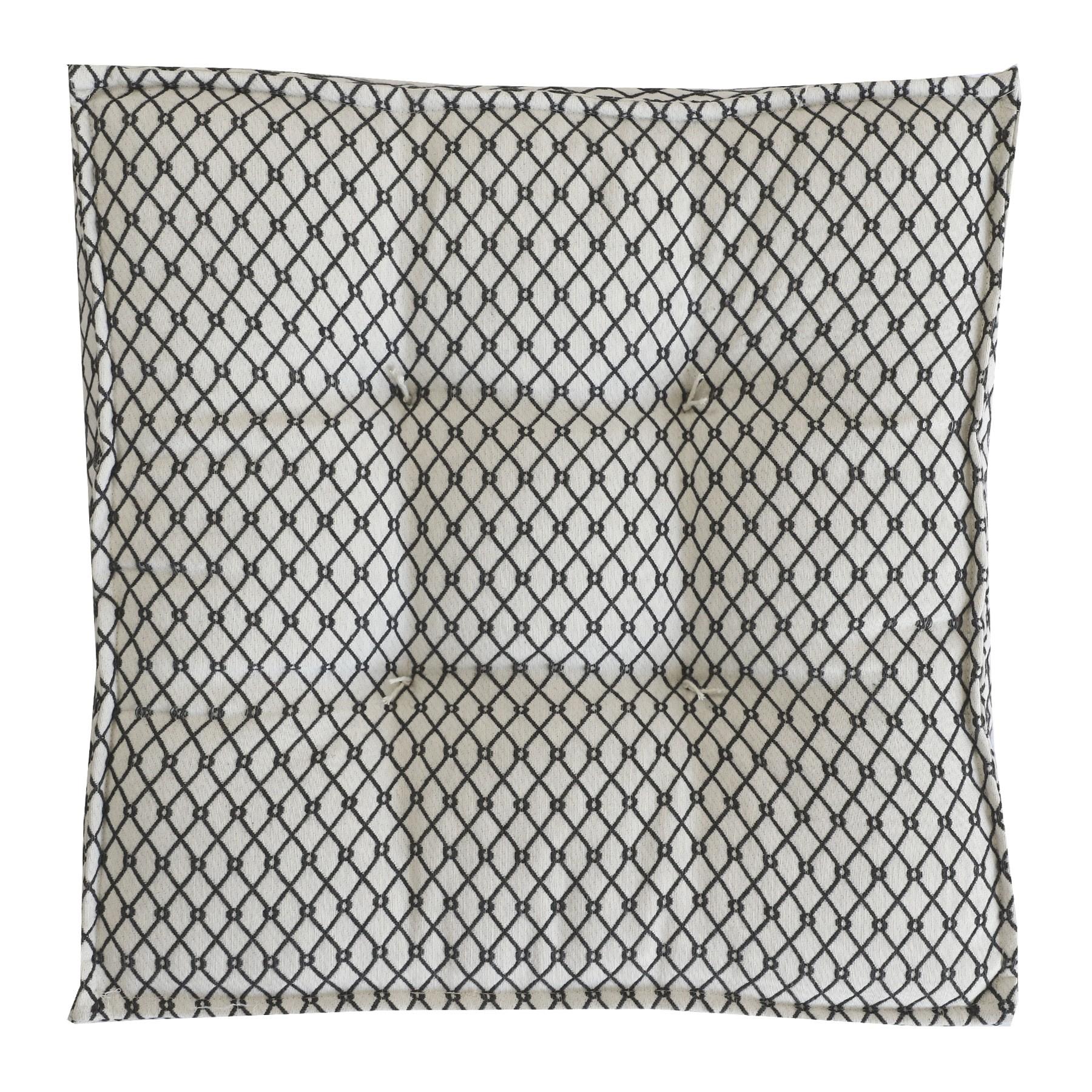 Almofada Futton Jacard 45 x 45 cm Cinza - Madritex