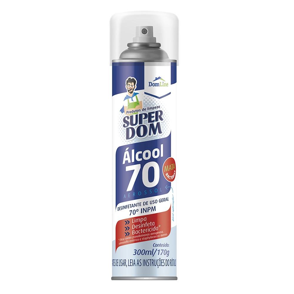 Alcool Aerossol Spray 70 300ml Baston
