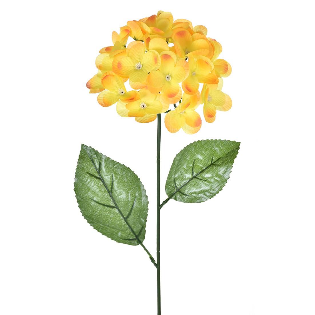 Haste Artificial Hortensia 70cm Amarelo