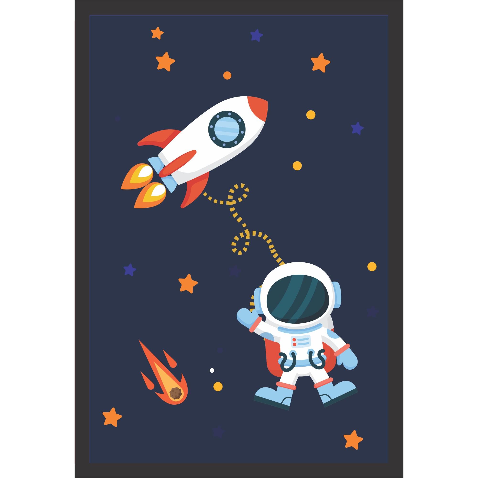 Quadro Decorativo 22x32 cm Astronauta - Kapos